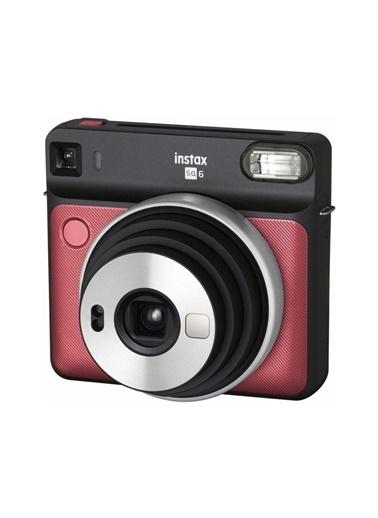 Fujifilm instax SQ 6 Ruby Red Fotograf Makinesi ve 10'lu Kare Film Renkli